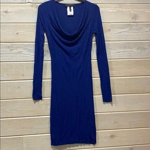 BCBG Long Sleeve Midi Dress